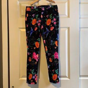 SZ 4 Pixie black floral old navy pants